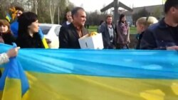Митинг за единую Украину в Краматорске