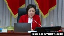Қирғизистон парламенти вице-спикери Аида Қасималиева.