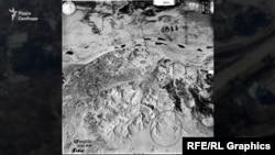 Олексіївський люнет, ймовірно, зображений на фото, зробленому німецьким пілотом