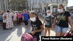 Эвакуация детей из Армянска, 4 сентября 2018 года