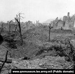 Руіны Монтэ-Касына пасьля бітвы. 1944