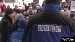 Митинг против ОБСЕ в Донецке, февраль 2017 года. Кадр из видео с YouTube-канала так называемого Министерства информации группировки «ДНР»