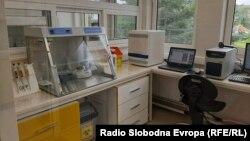 Лабораторија за ковид тестирања во Битола.
