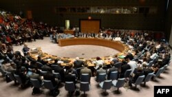 Pamje nga një takim i Këshillit të Sigurimit të OKB-së lidhur me situatën në Rripin e Gazës