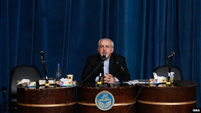 Iranian Foreign Minister Mohammad Javad Zarif during an appearance in early December at Tehran University