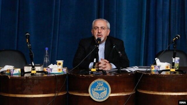 محمدجواد ظریف، وزیر امور خارجه ایران در دانشگاه تهران