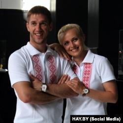 Антон Кушнір з жонкай Натальляй