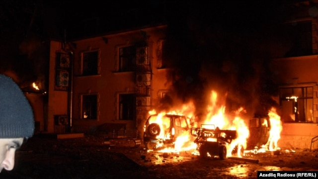On January 23, thousands of Ismayilli residents demanded the resignation of the district's governor, setting fire to his residence, to cars, and to a local motel.
