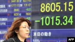 Катастрофа в Японии сразу же внесла свои коррективы на фондовых рынках