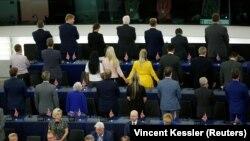 """Депутаты """"Партии Брекзита"""" во время инаугурационного заседания Европарламента"""