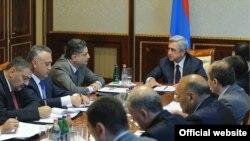 Совещание у президента Армении по вопросам налогово-бюджетной сферы, Ереван 1 октября 2012 г.