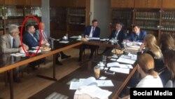 Олександр Грановський на зустрічі Юрія Луценка і генпрокурора Кіпру Костаса Клерідіса