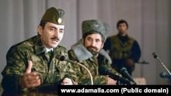 Джохар Дудаева и Микола Козицын, лидер донских казаков, 1991г.