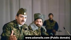 Russia -- Dzhohar Dudaev and Mykola Kozitsyn (archive/www.adamalla.com)