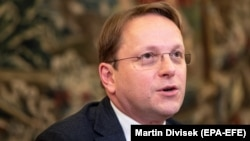Oliver Varhelyi, the EU commissioner for neighborhood and enlargement