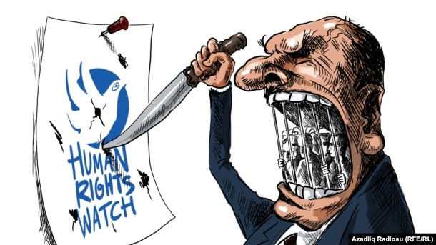 Human Rights Watch. Karikatura.