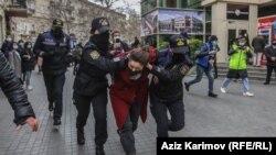 Polis Bakıda 8 mart aksiyasının keçirilməsinə imkan vermir, 2021-ci il