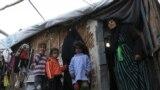 مهجرون في مخيم أم البنين في بغداد