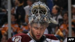 Russian ice hockey goaltender Semyon Varlamov (file photo)