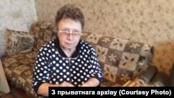 Грамадзкая актывістка Тацяна Севярынец у сваёй кватэры.
