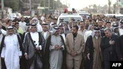 راهپیمایی اعتراضی هواداران مقتدا صدر قرار بود ۹ آوریل (۲۱ فروردین) در سالگرد سرنگونی رژیم صدام برگزار شود.(عکس:AFP)