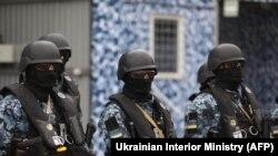 Ukrayna Milli Qvardiyasının üzvləri təlim zamanı, 19 aprel, 2021-ci il