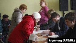 Участок № 1 в Симферополе, 16 марта 2014 года