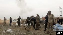 مقاتلون من قوات الحشد الشعبي في معارك تكريت