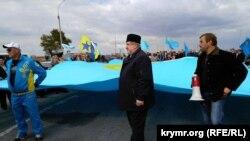 Рефат Чубаров на річниці блокади, Чонгар, 24 вересня