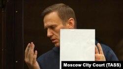 Олексій Навальний у суді. Москва, Росія. 2 лютого 2021 року