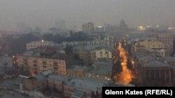 Киев в дыму, 3 сентября 2015 года