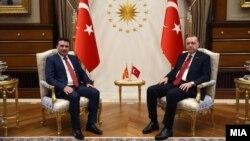 Средба на премиерот Зоран Заев со претседателот на Турција Реџеп Таип Ердоган во Анкара