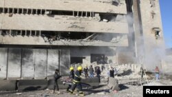 آثار تفجير وقع في كركوك 3 شباط 2013.