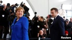 Nemačka kancelarka Angela Merkel i francuski predsednik Emanuel Makron