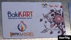 """""""Bakı-kart"""" nəqliyyat kartı"""