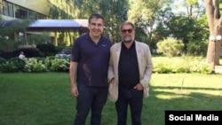 Губернатор Одесской области Михаил Саакашвили и российский рок-музыкант Борис Гребенщиков.