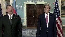 ABŞ Dövlət Katibi Kerri və Prezident Əliyev görüşdülər