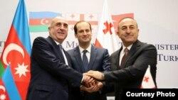 Azərbaycan, Türkiyə və Gürcüstan xarici işlər nazirləri, Tbilisi, 19 fevral 2016