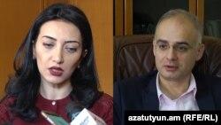 Министр юстиции Армине Ованнисян и оппозиционер Левон Зурабян