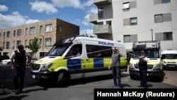 Полиция оцепила район на востоке Лондона. 4 июня 2017 года.
