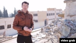 A screen shot of British hostage John Cantlie in a video issued by Islamic State