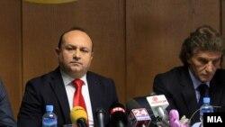 Архивска фотографија, прес конференција на претседателот на ССМ Живки Митревски на 8 ми јануари 2014 година