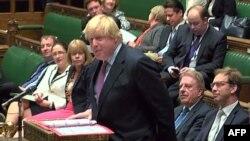 Boris Johnson.Parlamentin iclasında.