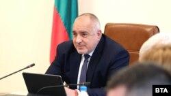 Бойко Борисов по време на заседанието на Министерския съвет в сряда.