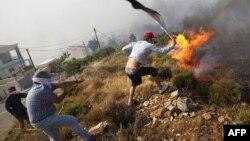 Природный пожар в пригороде Афин в 2009 году