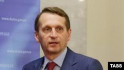 Председатель Государственной думы России Сергей Нарышкин. Москва, 10 октября 2014 года.