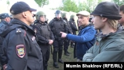 Протесты против строительства храма в Екатеринбурге