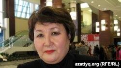 """Алмагуль Сауденова, президент обувной фабрики """"Алпамыс"""" в Костанае. Астана, 21 ноября 2012 года."""