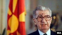 Првиот претседател на Република Македонија Киро Глигоров.