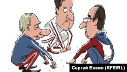 Caricatură de Serghei Elkin.